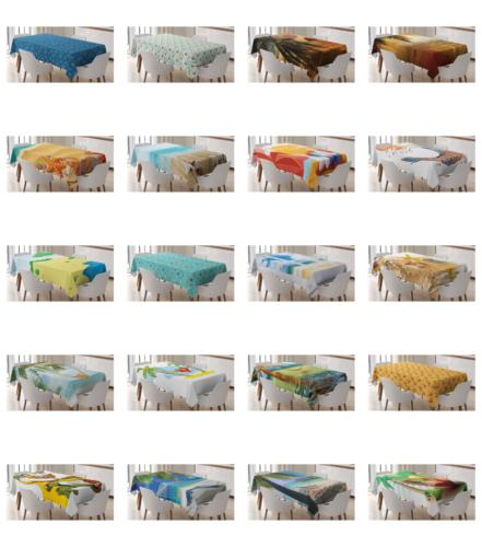 beach graphic tablecloth table cover for dining