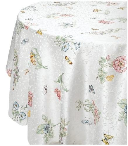 "Lenox Butterfly 70"" Round Tablecloth"
