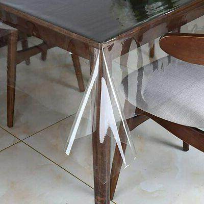 clear plastic transparent tablecloth protector water proof