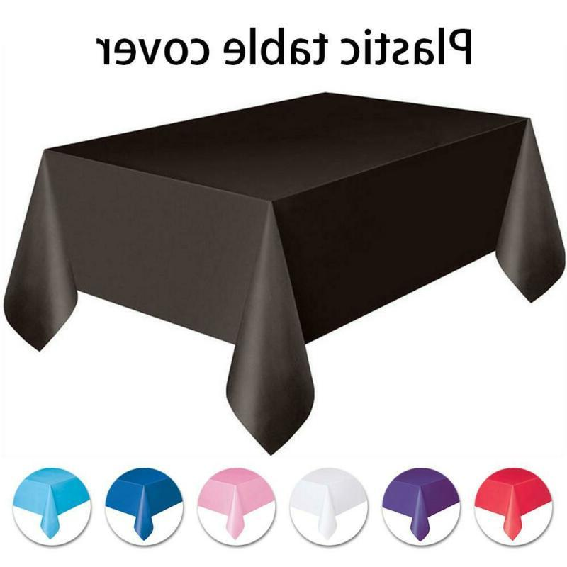 disposable tablecloths plastic banquet party table cover
