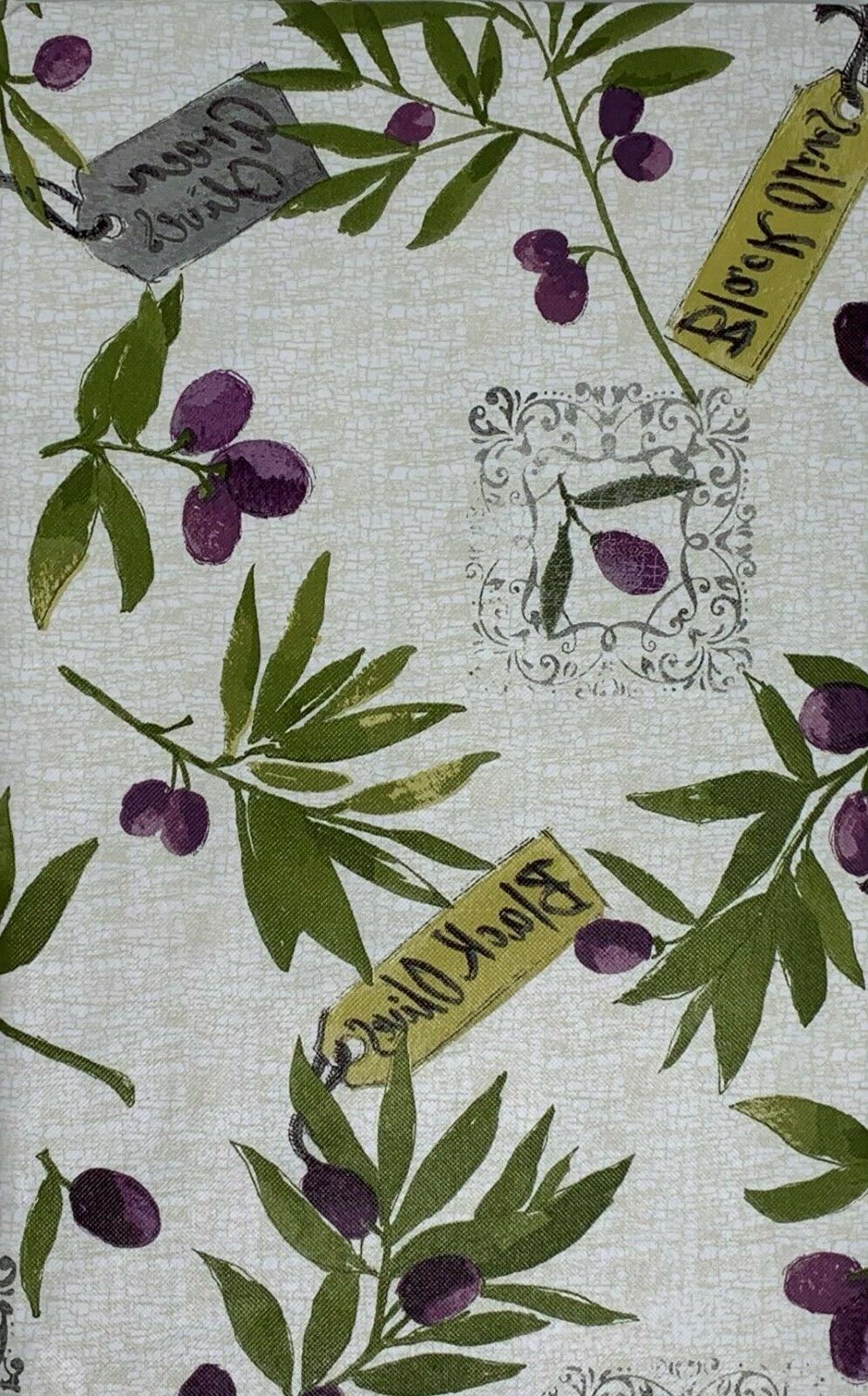 Tuscan Inspired Flannel backed Vinyl Tablecloths. Round, Obl
