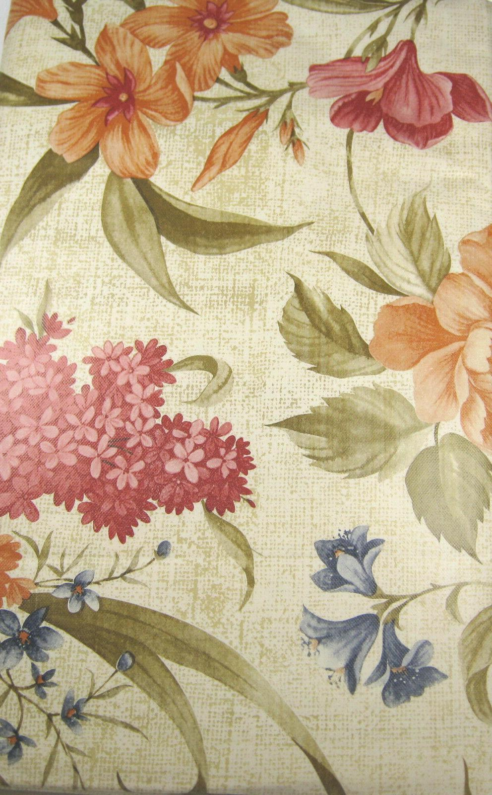Floral on Flannel Sizes Oblong