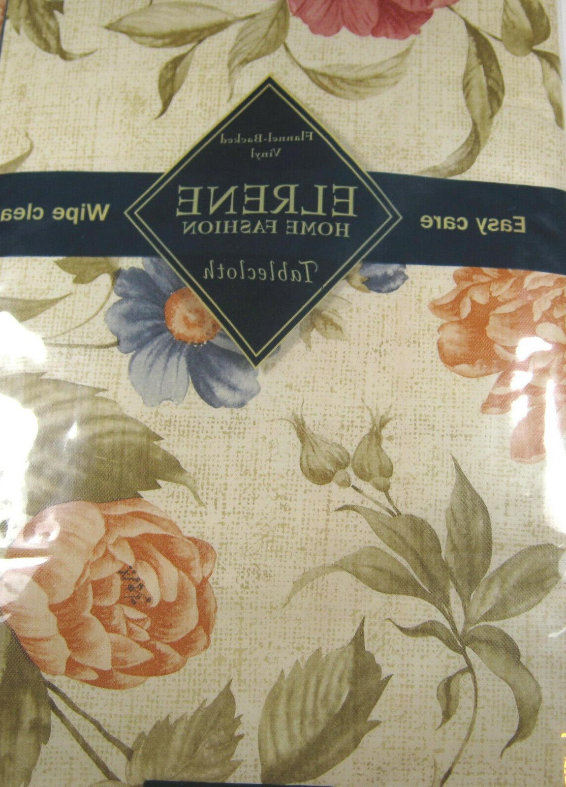 Floral on Flannel Tablecloths Assorted Sizes Round