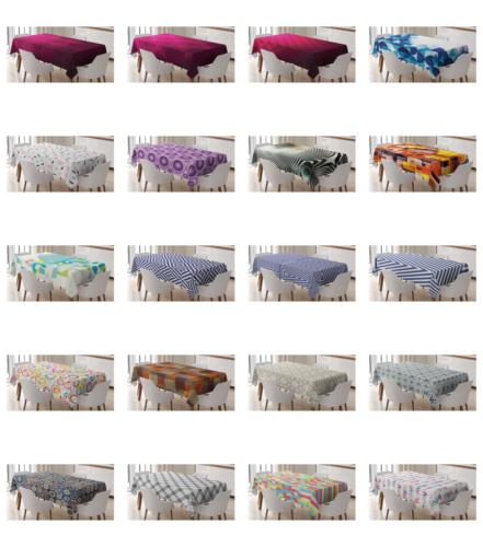 Ambesonne Rhombus Tablecloth Table Cover for Room