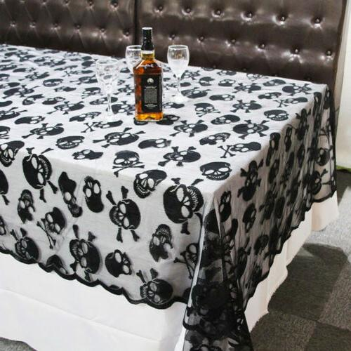 Halloween Square Lace Table Covers for Scary Movie Night