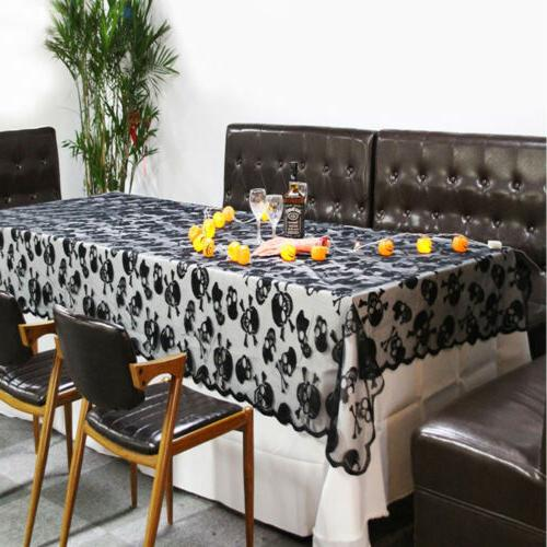 Halloween Tablecloth Square Lace for Scary Night
