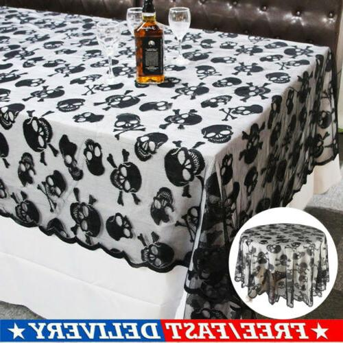 Halloween Round Square Lace Table Covers for Movie