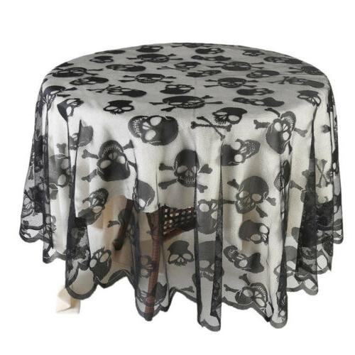 Halloween Fbaric Square Lace Table for Scary Movie Night