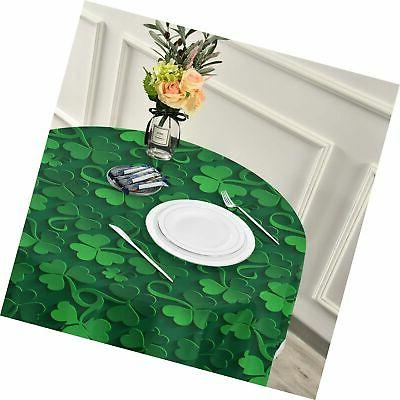 ALAZA Tablecloth, St Patrick Day Washable Dust-Proof Polyester ...