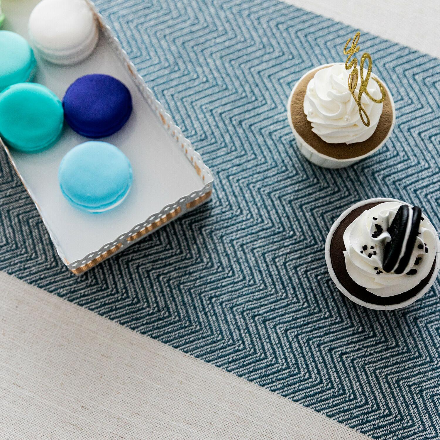 Linen tablecloth,waterproof for Kitchen Decoration