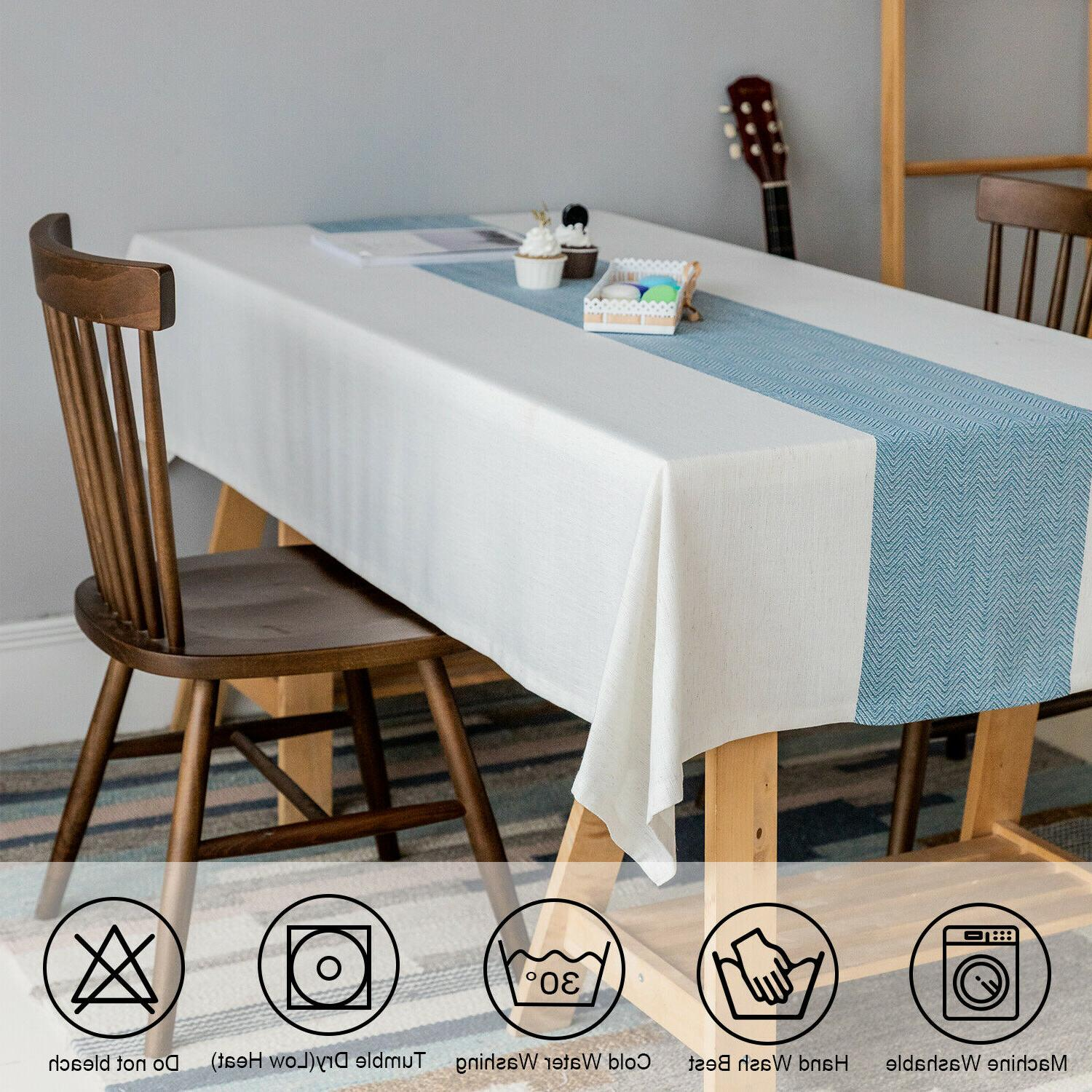 Linen tablecloth,waterproof Table Cover for Decoration