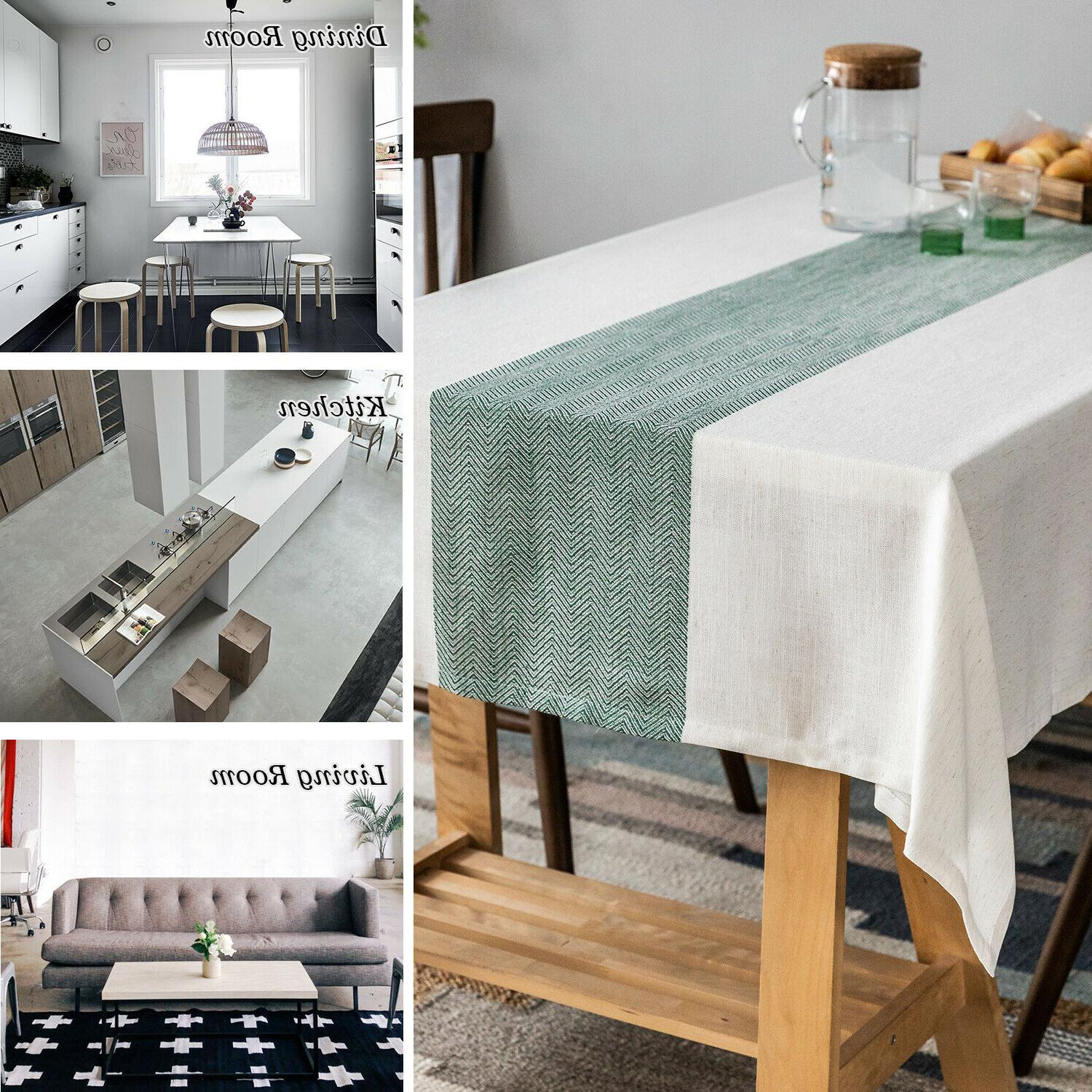 Linen tablecloth,waterproof for Decoration