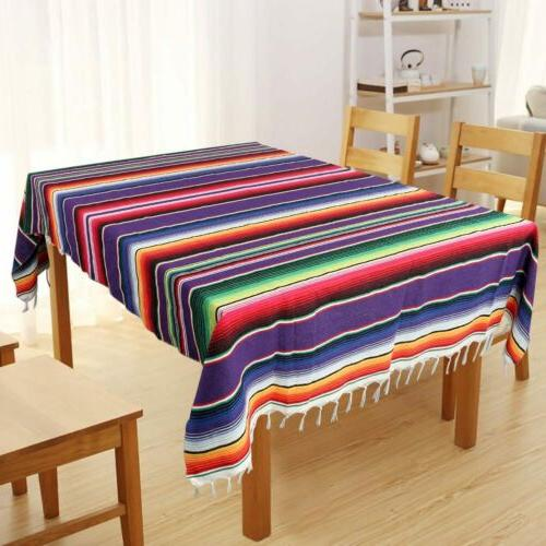 Mexican Serape Tablecloth Blanket Yoga Throw Rug Fiesta Outd