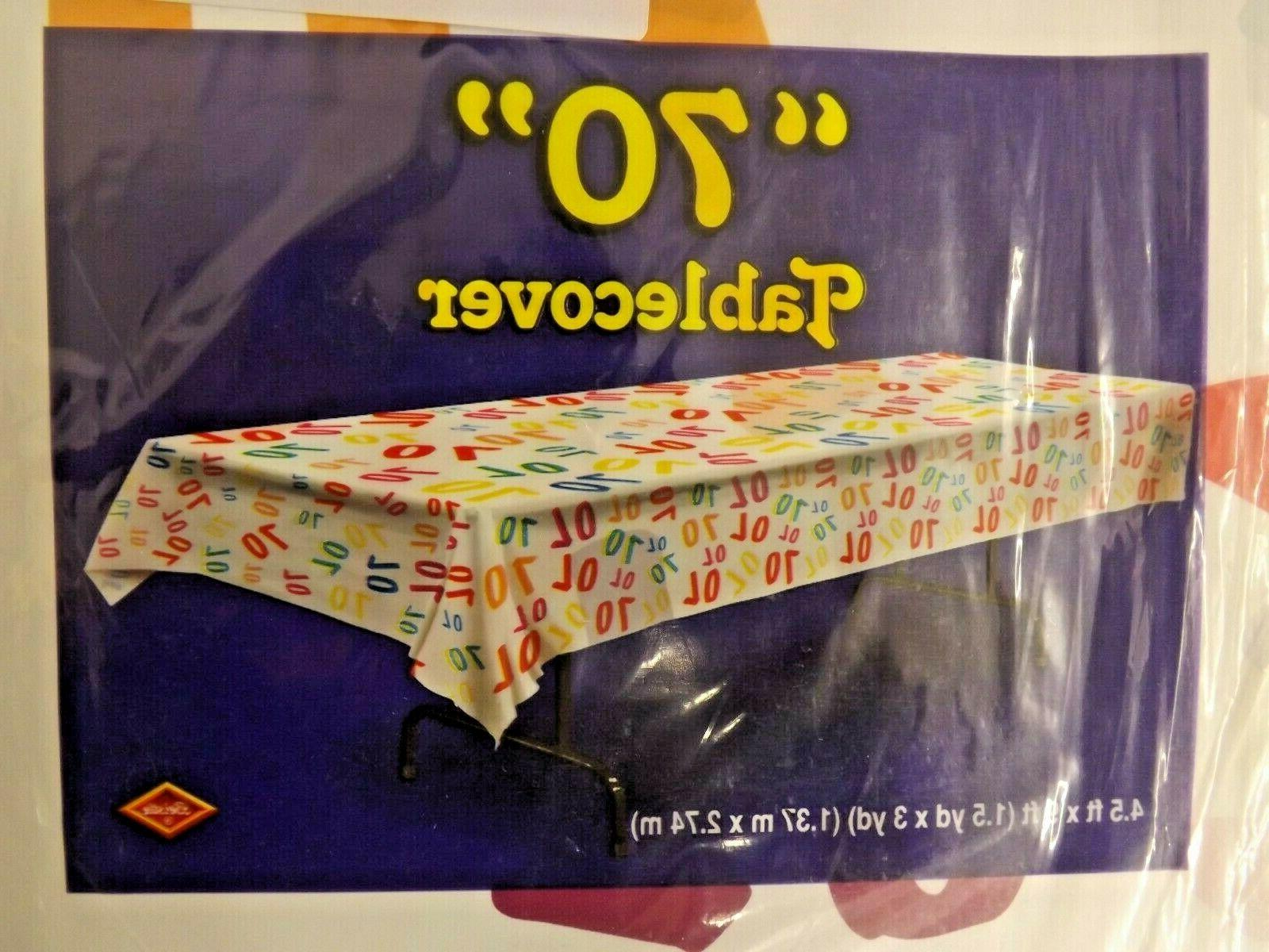pack of 3 birthday age 70 tablecovers