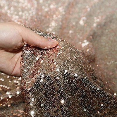 Poise3EHome 50x50 Square Sequin Tablecloth for Party Cake Dessert