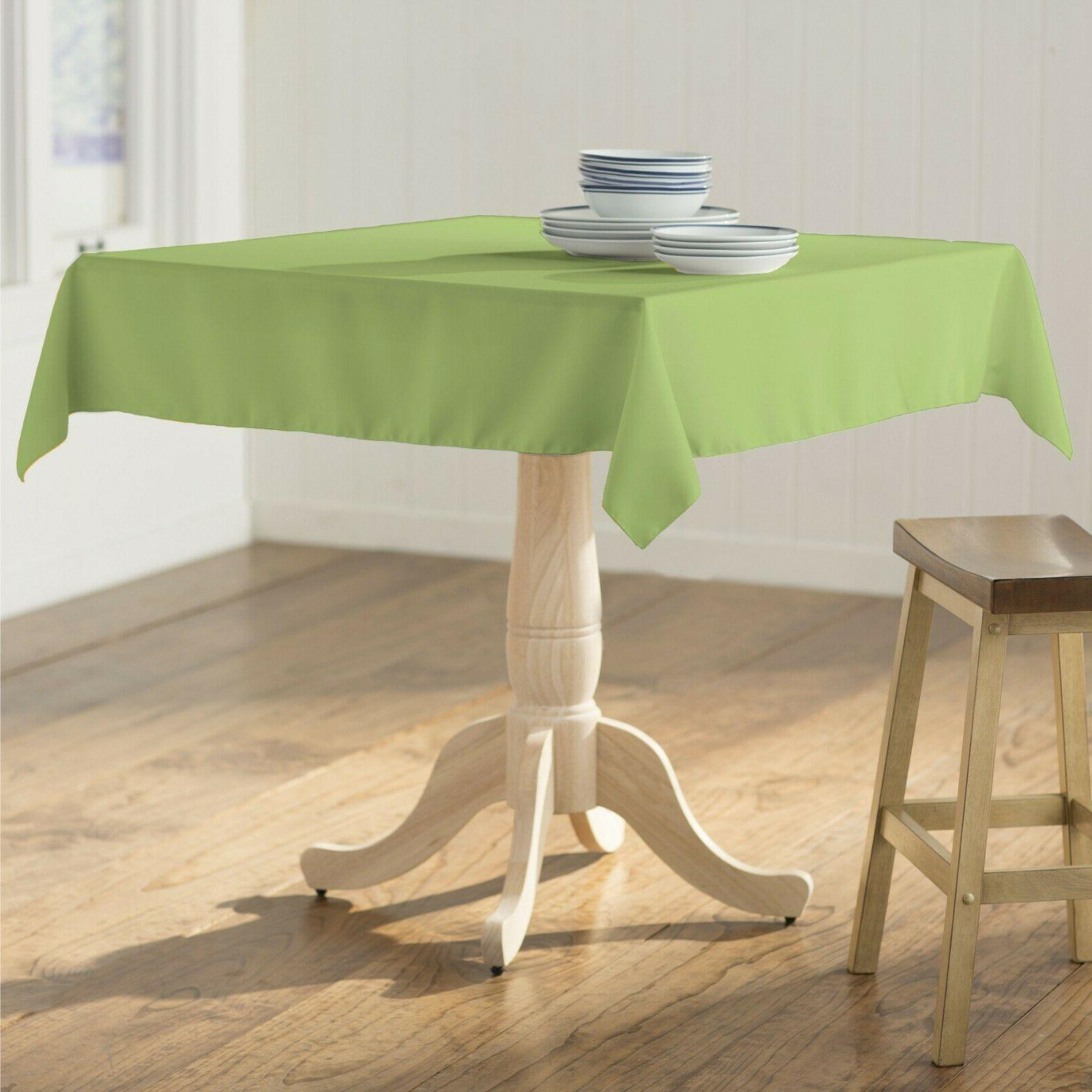 polyester poplin square tablecloth 52 by 52