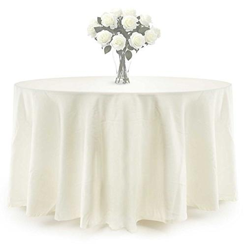 Lann's Linens Polyester for Wedding, use - 132 Round, Ivory Cream