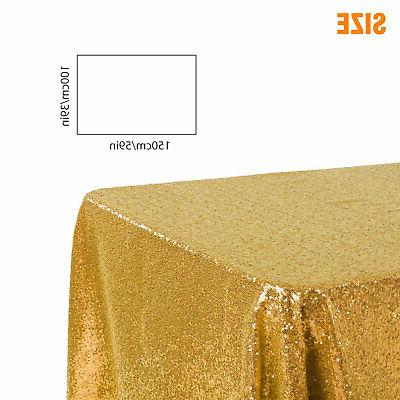 Sparkly Tablecloth Table Linen 39x59 inch