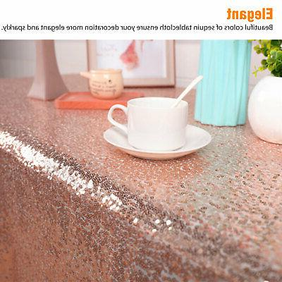 Rectangle Sequin Glitter Tablecloth Sparkly Table Wedding