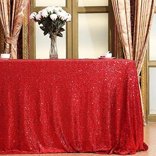 Eternal Red Sequin Tablecloth Tablecloth