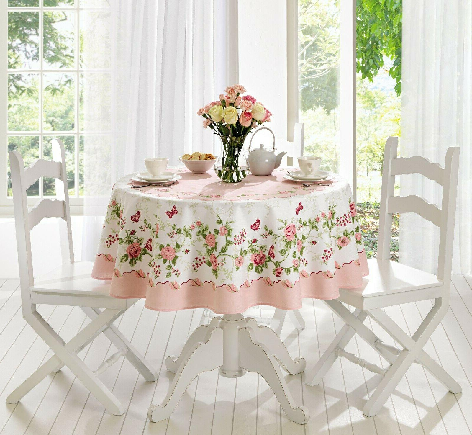 Rose Decorative Printed Round or Rectangle Tablecloth water