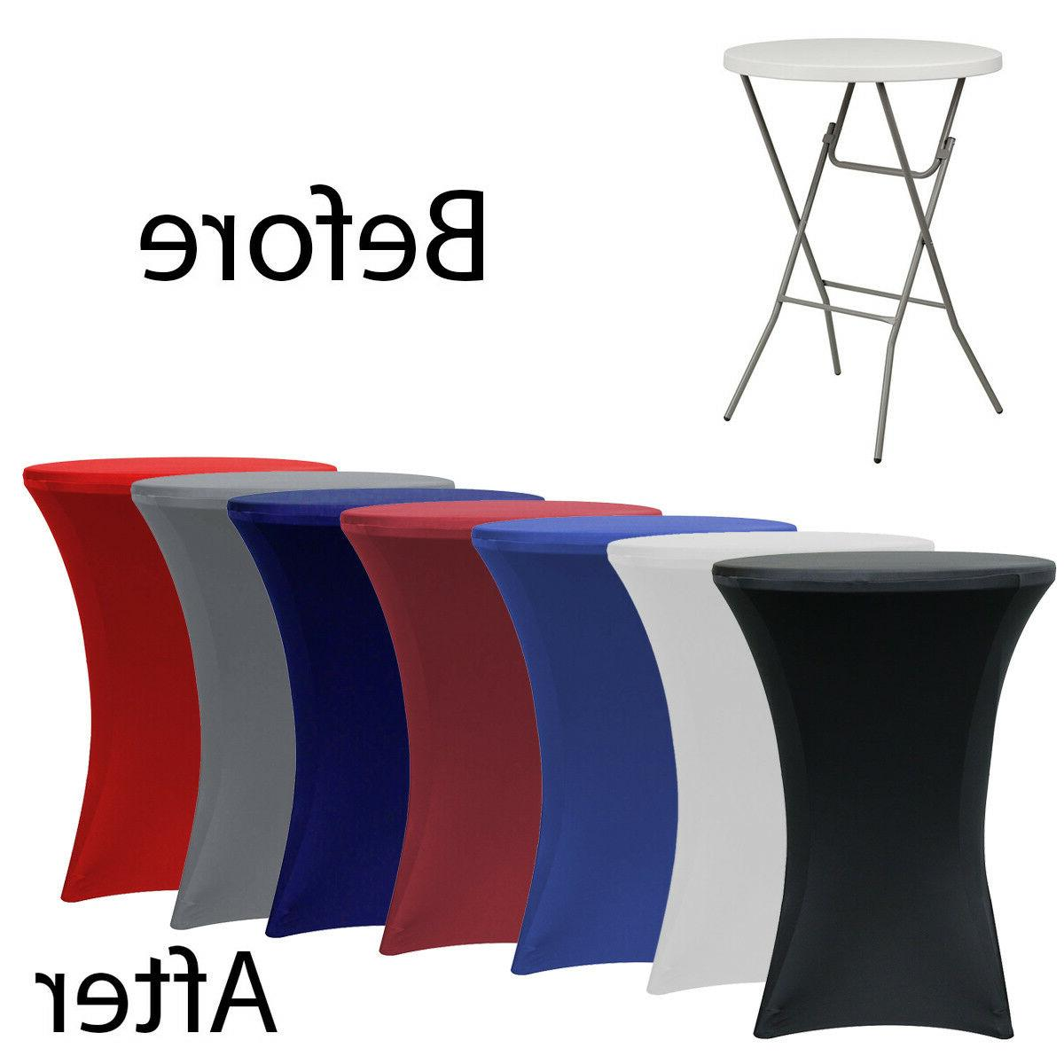 Round Stretch Tablecloth Cocktail Tables
