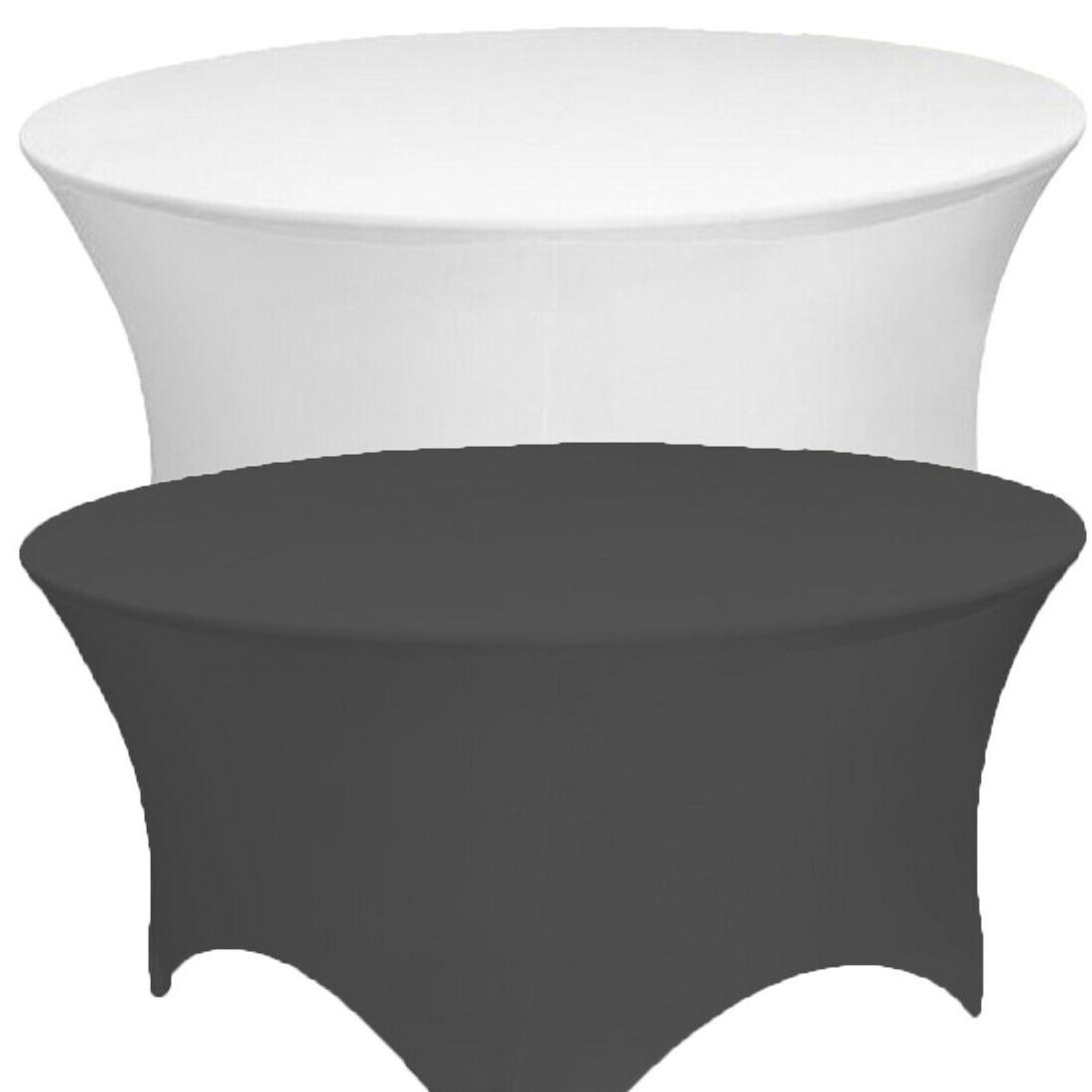 round spandex tablecloth fitted stretch table cover