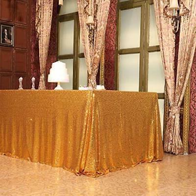 Poise3EHome Sequin 60x102 Inches Rectangle Line for Wedding