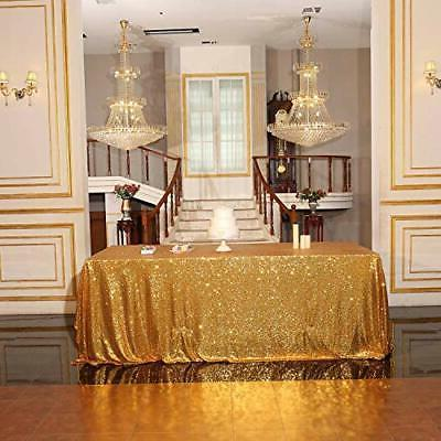 Poise3EHome Sequin Tablecloth Inches Rectangle Line for