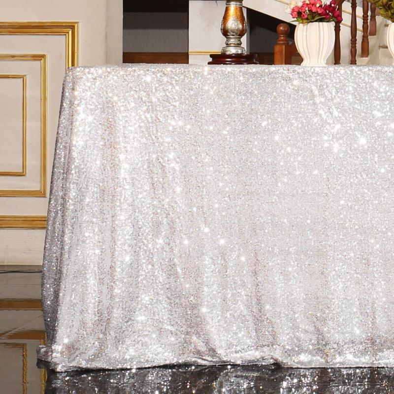 sequin tablecloth 90x132 inches rectangle table line