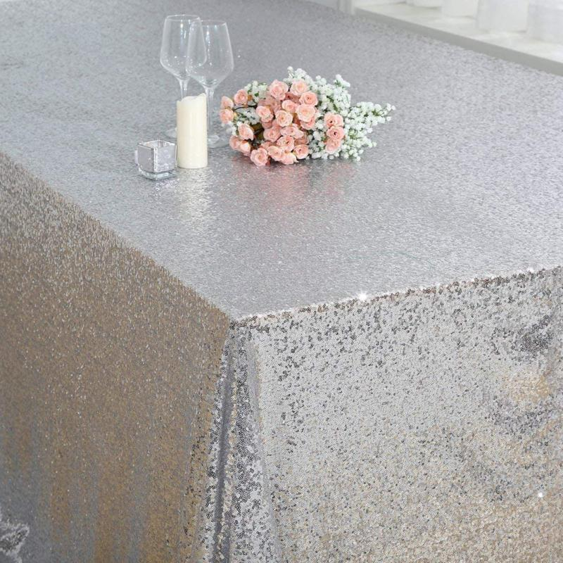Poise3Ehome Tablecloth 90X132 Inches Table For Wedding