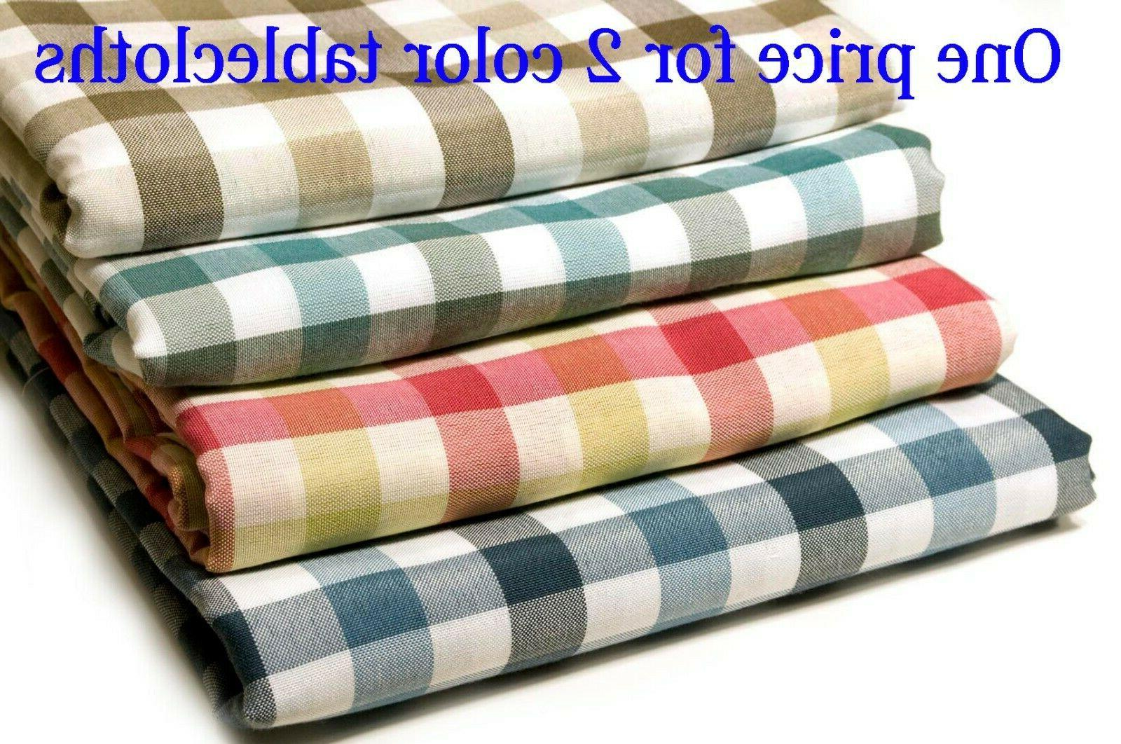 set of 2 different color tablecloths rectangle