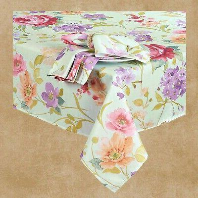 Spring Tablecloth x Pink Yellow Fabric