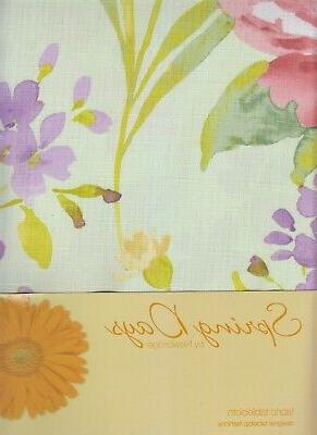 Spring Tablecloth x Pink Green Fabric