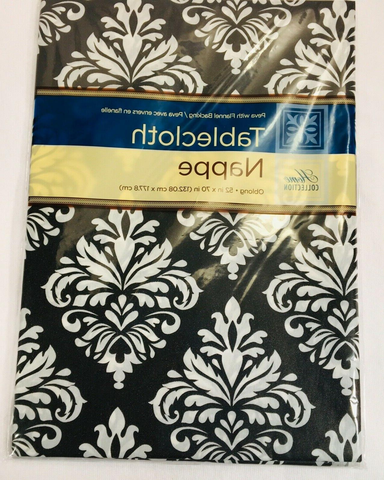 Tablecloth White Back Waterproof 52in