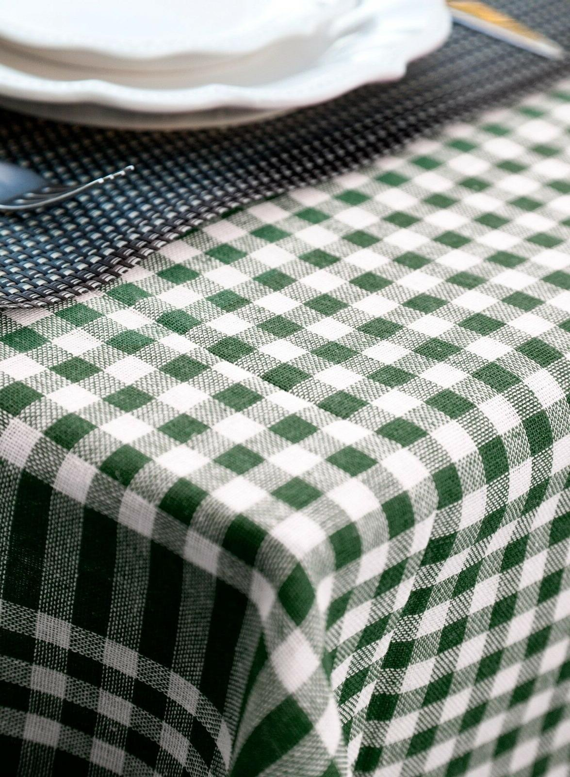 Tablecloth Cotton Farmhouse Gingham Table Cover