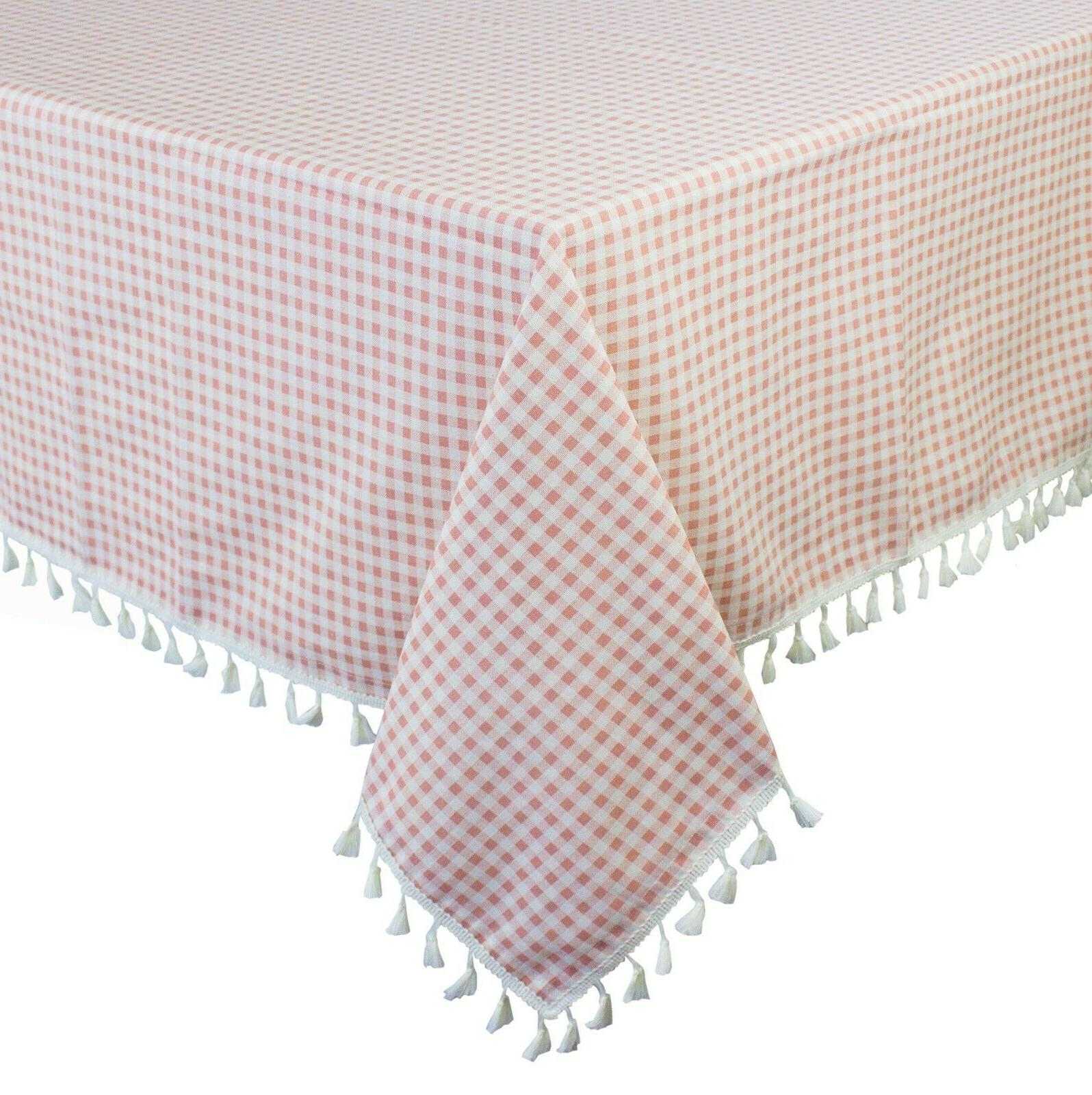 tassel cotton blend tablecloth sizes and colors