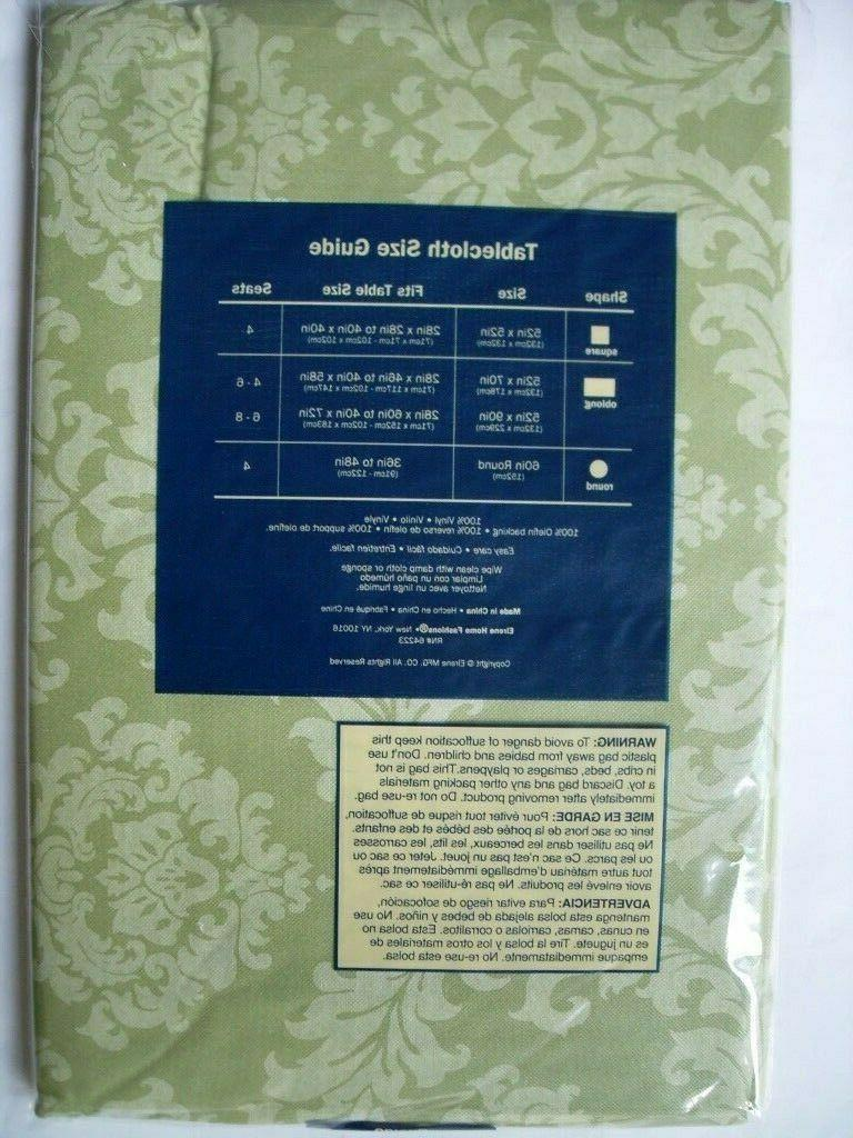 VARIOUS / -DAMASK-VINYL FLANNEL BACKED-TABLECLOTHS-BY ELRENE