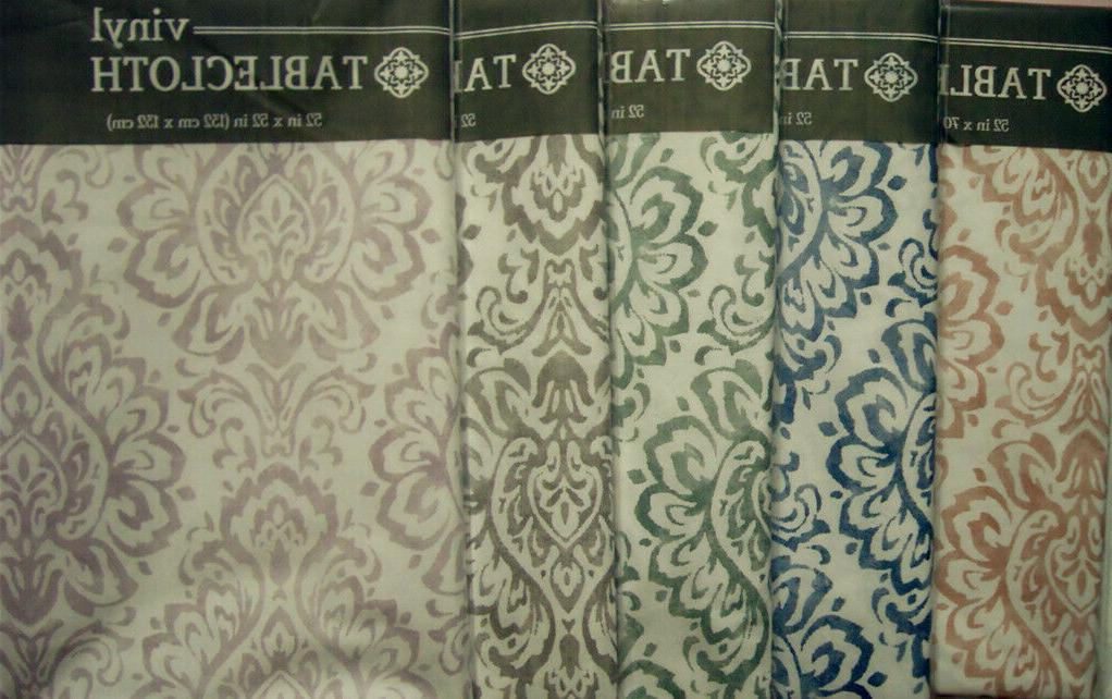 various sizes colors damask vinyl flannel backed