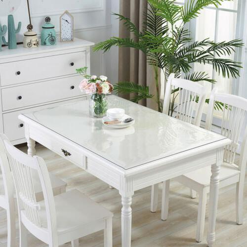 Waterproof PVC Tablecloth Transparent Table Cover