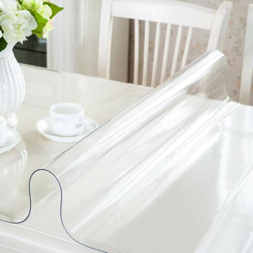Waterproof Clear PVC Tablecloth Transparent Table