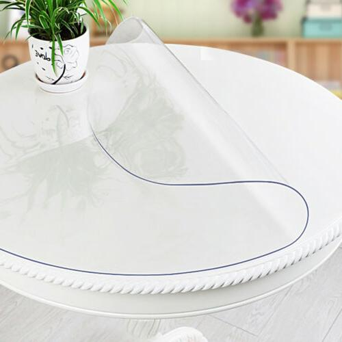 Waterproof PVC Clear Cover Tablecloth Protector Mat