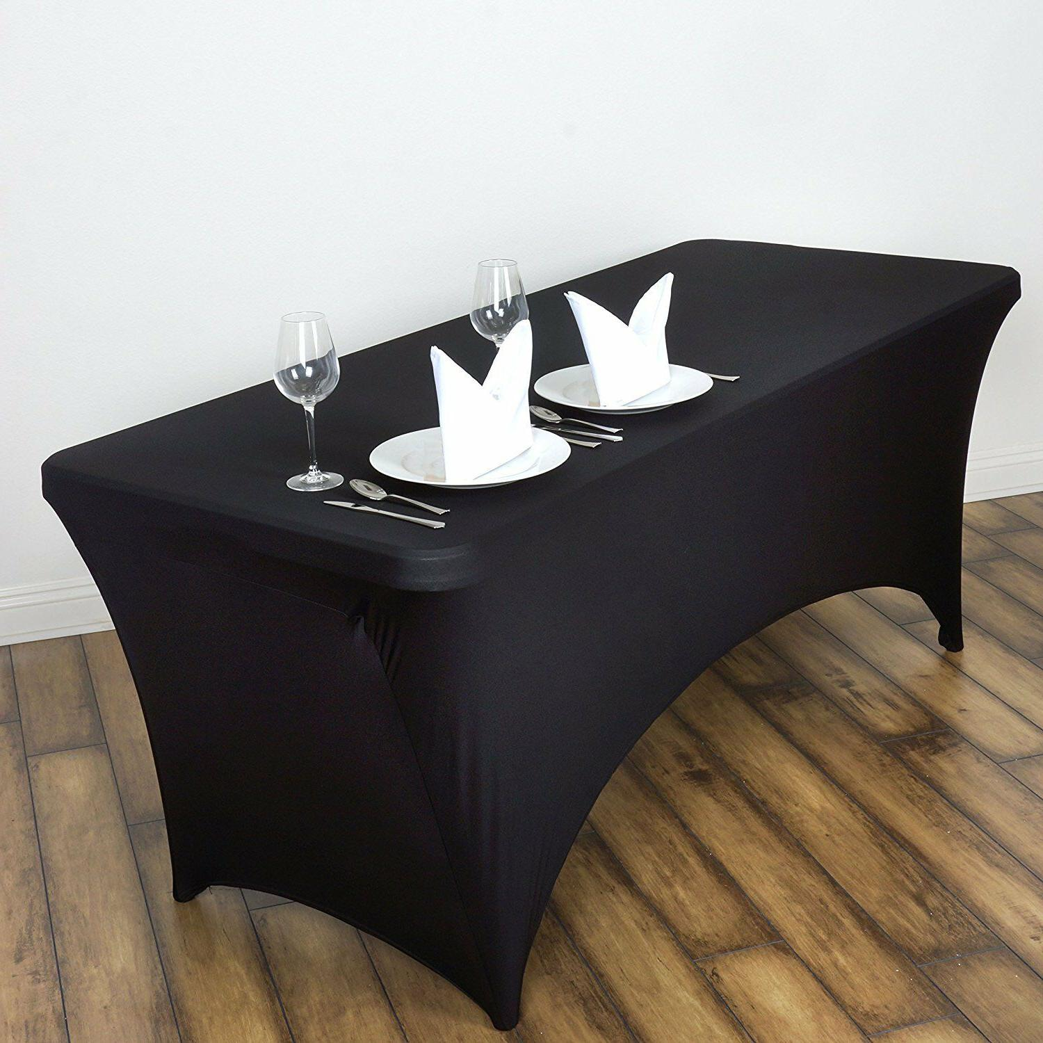 Rectangular Fitted Covers Tablecloths White