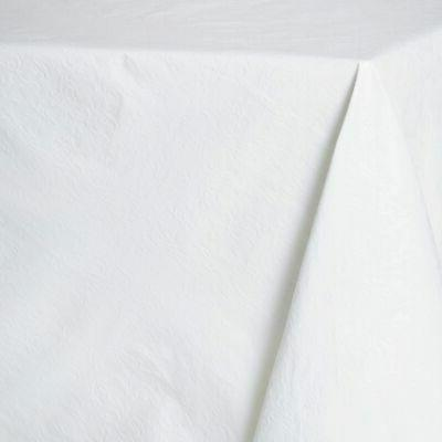 white textured tablecloth pad
