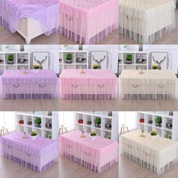 Lace Polyester Rectangle Tablecloths For Home Table Wedding