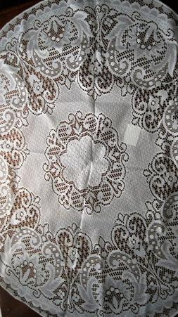 """LACE TABLECLOTH 36"""" for Small Round Table Brand New White Im"""