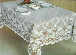 Lace Tablecloth White or cream/Ecru perfect for wedding banq