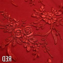 Laylani Lace in Red - Lace Tablecloths and Overlays for Wedd