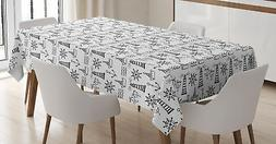 Lighthouse Tablecloth by Ambesonne 3 Sizes Rectangular Table