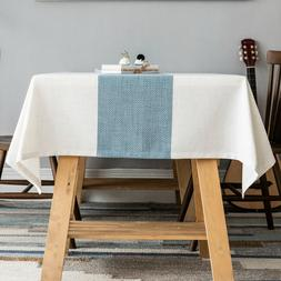 Linen tablecloth,waterproof Table Cover for Kitchen Dining T